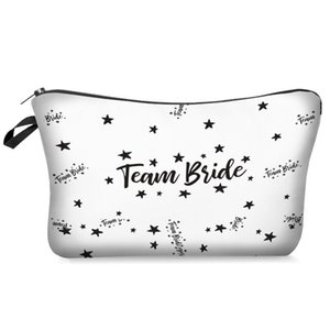 عروس ماكياج حقيبة الرقمية المطبوعة وصيفة الشرف حقيبة هدية حقيبة الزفاف المرأة عارضة محفظة شنقا الحقيبة مستحضرات التجميل BWA3808