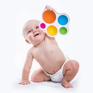 2021 Dimple simple Fidget Popper Toys, Pop It Fidget Push Pul Pop Silicone Sensory Juguetes, Educación Earra para bebés Aprendizaje de Aprendiendo Juguetes