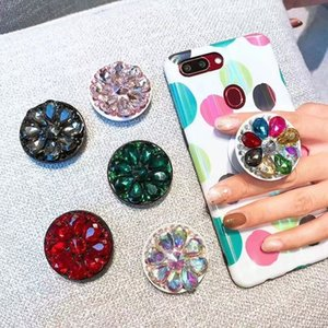 phone holder Diamond Metal Finger Ring Holder 360 degree Cell phone Stand Bracket for iphone 12 11 7 8 x xr xs samsung LG smart phone