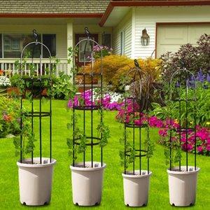Planters & Pots 120 150cm Climbing Vine Rack Plant Potted Support Frame Plastic Coated Steel Flower Vegetables Decorative Trellis Bracket 1P
