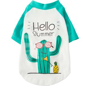 New spring and thin teddy bear small dog cat T-shirt pet summer fashion brand clothing
