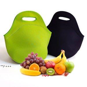 Lightweight Children's Insulation bag portable outdoor neoprene student picnic handbag handheld waterproof lunch bags NHD9228