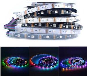 30/36 LEDS APA102 SK9822 RGB direccionable RGB LED LED Pixel Strip DAT y CLK DC5V Iluminación de cinta de píxeles flexibles