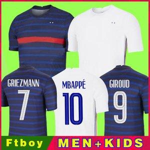 2020 MBAPPE GRIEZMANN POGBA 2021 Футбол футбол футбол футбол Maillot de Foot Mailoots de Футбольная рубашка + Kids Kit