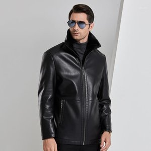 New Winter male Leather Jacket Men Windbreaker PU Jackets Male Outwear Warm PU Jackets Size 4XL1