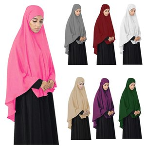 Long Khimar Amira Hijab Scarf Muslim Women Overhead Prayer Dress Abaya Jilbab Islamic Clothing Middle East Niqab Burqa Ramadan
