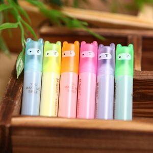 Stationery Rabbit Mini Highlighter Pen Marker Pens Kawaii Material Escolar Papelaria Writing School Supplies G1169
