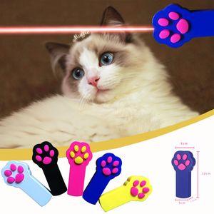 PET juguete láser luz divertido gato chaser stick led huella puntero láser gato gracioso gato pluma suministros para mascotas W-00725