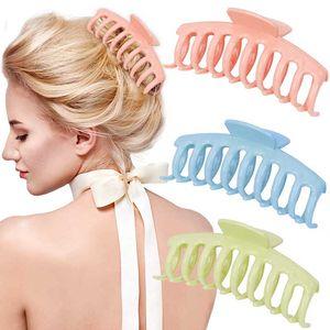 2021 korea mode retro haarclips frauen haarschmuck acryl massiv farbe haarklauen krabbe für gilrs hairpin headwear