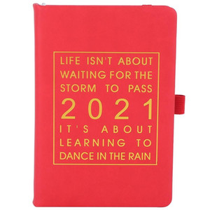 PPYY-New Fashion Agenda 2021 English Language Thicken Notebook A5 Leather Soft Cover School Planner Efficiency Journal