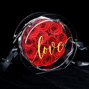 acrylic transparent preserved rose bag new design creative gifts for lover best sale high quality keep at least 3years
