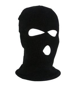 New Knit 3 Hole Face Mask Ski Mask Balaclava Hat Face Beanie Cap Snow Winter Motorcycle Helmet Hat Designer Masks GWE10388