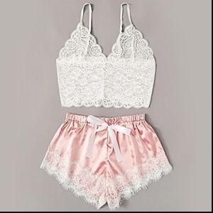 New Women Underwear Wire Free satin Bra and Panty Set Hollow Lingerie Women Brassiere Bralette