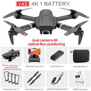 V4S drones RC Simulateurs 4K HD Large Angle Simulateurs Caméras 1080P WiFi FPV Drone Dual Caméra quadrico-quadcoptère en temps réel Hélicoptère Toys