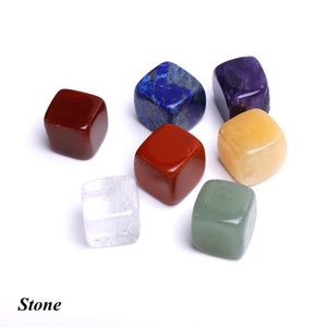 Natural Crystal Chakra Stone 7pcs Set Natural Stones Palm Reiki Healing Crystals Gemstones Yoga energy Natural Crystal Chakra LLS686