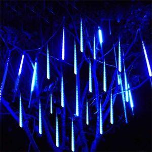 Wasserdicht 3 Farben EU-Stecker Girlande 8 Tuben LED Meteor Dusche Regen String Light 50 cm 30cm eisenschnee Schneefall Weihnachtsdekoration 746 k2