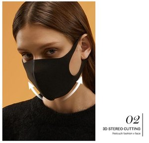 Custom Luxury Winter Black Breathable Facemask Logo Fashion Printed neoprene Fabric Reusable washable durable Facemask