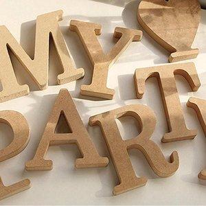Novelty Items 26 English Letter Heart Wooden Decoration DIY Crafts Vintage Alphabet Birthday Party Wedding Ornament