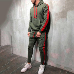 2021 Autumn Men's Set Pullover Hoodies Sweatshirts SweatPants 2 Pieces Sets Fitness Sporting Clothing Mens Tracksuit Men MY058