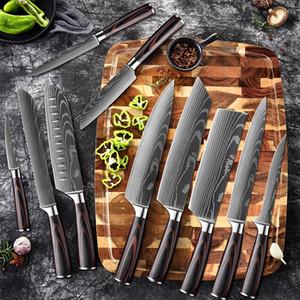 """Xituo 8 """"Zoll japanische Küchenmesser Laser Damaskus Muster Chefmesser Sharp Santoku Cleaver Slicing Utility Messer Werkzeug EDC Neu Kostenloser DHL"""