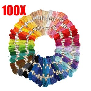 Yarn 50 100PCS Cross Stitch Cotton Embroidery Thread Floss Sewing Skeins Craft Qtoe Dropship