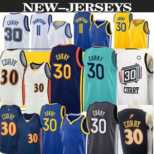 Golden State Warriors basketball jersey nba 30 Stephen Curry 11 Klay Thompson Nba jerseys men top basketball jerseys