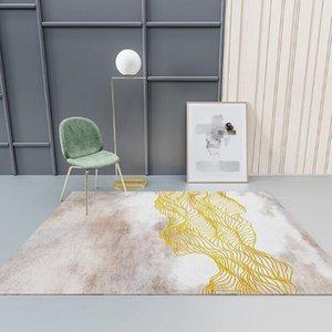 Estilo minimalista nórdico Alfombra grande de la alfombra abstracta rayada rectangular geométrica sala de estar dormitorio alfombra pecho puerta puerta estera