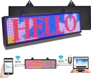 PH10mm led işareti 26x8 inç led kaydırma mesajı ekran rgb tam renkli dijital mesaj ekran kurulu wifi usb tarafından programlanabilir