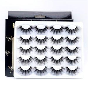 Wholesale 3D Mink False Eyelash 10 Pairs Fluffy Wispy Fake Eyelashes Full Strip Natural Look Lashes Extension for Beauty