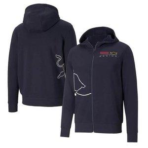2021 남자의 스탠드 업 칼라 팀 스웨터 캐주얼 자켓 F1 레이싱 슈트 오프로드 오프로드 광고 셔츠 까마귀