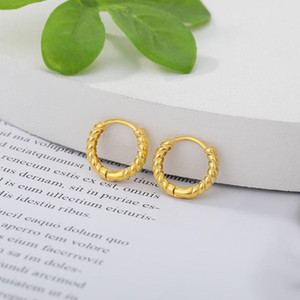 Gold Color Hoop Earrings For Women 2021 Stainless Steel Circle Ear Ring Fashion Earings Boho Jewerly Aretes Mujer Christmas Gift