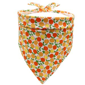 Dog Fruit watermelon pineapp Single Layer Pet Scarf Triangle Bibs Kerchief Pet Accessories Bibs Small Medium Large Dogs Xmas Gifts GWF5196