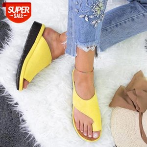 Women PU Leather Shoes Comfy Platform Flat Sole Ladies Casual Soft Big Toe Foot Correction Sandal Orthopedic Bunion Corrector #lL3w