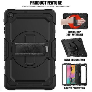 10.1 inch rotating protective cover T510 silicone full package tablet case holder pen slot T515 Tablet PC Cases