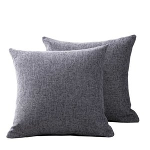 Linen sofa cushion living room bedside large back pillow cover without core cotton and hemp