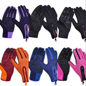 Senderismo deportivo al aire libre Bicicleta de bicicleta de invierno guantes de ciclismo para hombres mujeres windstopper Simulated Cuero Soft Warm Gloves 270 x2
