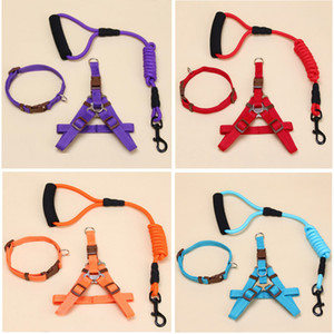 Dog leash Traction Rope Pet Harness For Small Large Dog Pull Adjustable Dog Leash Running Leash Training Collar Harness HH21-101