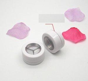 26,6 mm leeres weißes kosmetisches Lidschatten-Pulver-Gehäusekasten mit Schraubkappe, Schönheits-Makeup-Blusher-Sub-Container, Lippenstift Kompakte Paletten HWF8092