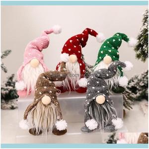 Decorazioni per il partito festivo di Natale Decorazioni di Gardenchristmas per l'albero Gnome Elfo Doll Doll Home Regalo Navidad Noe Anno 20211 Consegna di goccia 2021 r