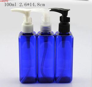 10ml Clear Blue plastic pump Square Empty Packaging bottle Lotion shower gel Shampoo Originales Refillable sample Bottlehigh quantityb