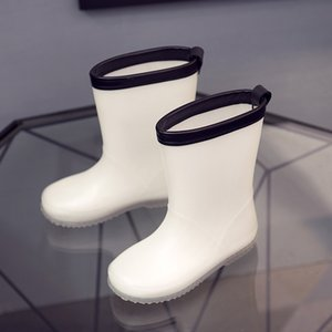 2021 Bambini Rain Boot Boys Girls Geelly Scarpe bianche Toddler 2020 Fashion PVC Kids Rainboots Boot bianco