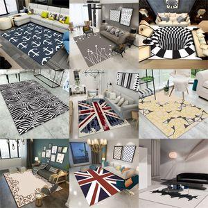 3D Carpets Luxury Rug Optical Illusion Non Slip Bathroom Floor Mat 3D Printing Bedroom Living Room Bedside Coffee Table Carpet 332 R2