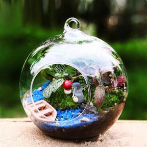 10pcs Globe Shape Glass Transparent Terrarium Ball Fleur Planteur de terrarium Terrarium Récipient Paysage Ornement Ornement Décor de jardin