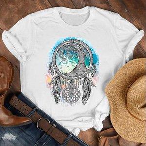 Women Lady Dream Web Watercolor Vintage Fashion Fall Shirt Clothes Tshirt Tee Womens Top Female Print T Graphic T shirt