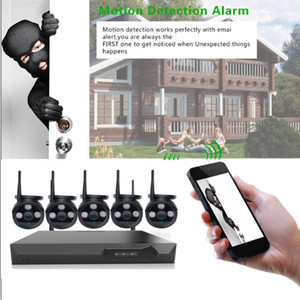 CCTV System Wireless Surveillance System Kit 1080p Home Security Camera Outdoor WIFI Cameras Set Video Audio Recording