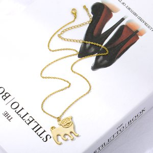 1pcs Lot Pug Dog Choker Necklace Gift Jewelry Chain Collar Bulldog Pendant Necklace Birthday Gifts 2020 Fashion