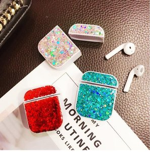 Bling Luxury Glitter Case For Airpods Case Silicone Sequins Girl Protective Earphone Cover For Airpods 1 2 3 pro Cases