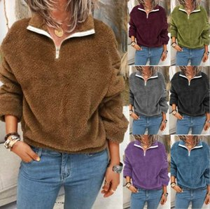 2020 autumn and winter women's new top Plush sweater double side Plush coat