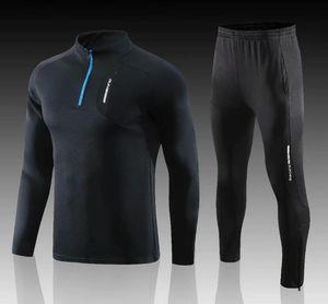adult Customized Men Light Board Long Zip Jacket Maillot De Foot adult Running Suit Tracksuit size;L-4XL 0006