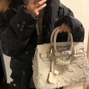 Handtasche Tasche Handgemachte Denim und Militär Leinwand Luxus Designer Brieftasche